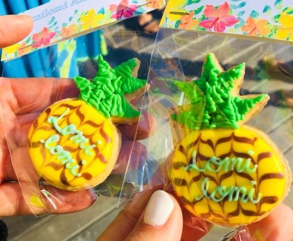 スライド写真ロミロミアロハフラ アイシングクッキー